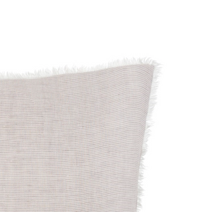 Lina Linen Pillow in Grey Thin Stripe