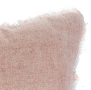Lina Linen Pillow in Dusty Rose
