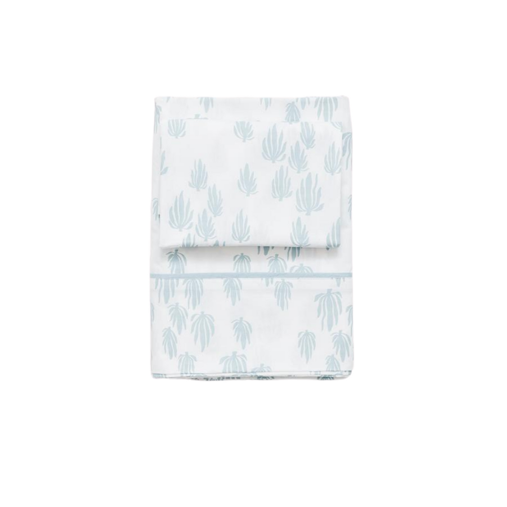 Lewis is Home Twin Sheet Set - Seaweed