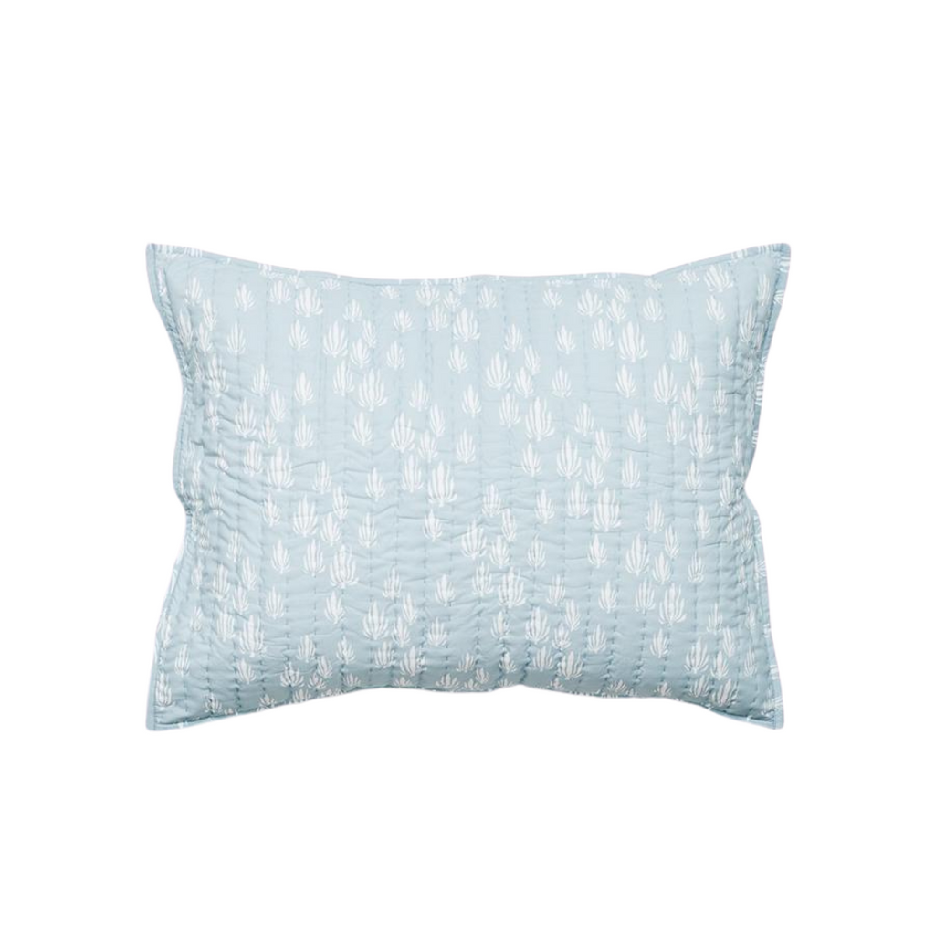 Lewis is Home Quilted Pillow Sham - Inverse Seaweed