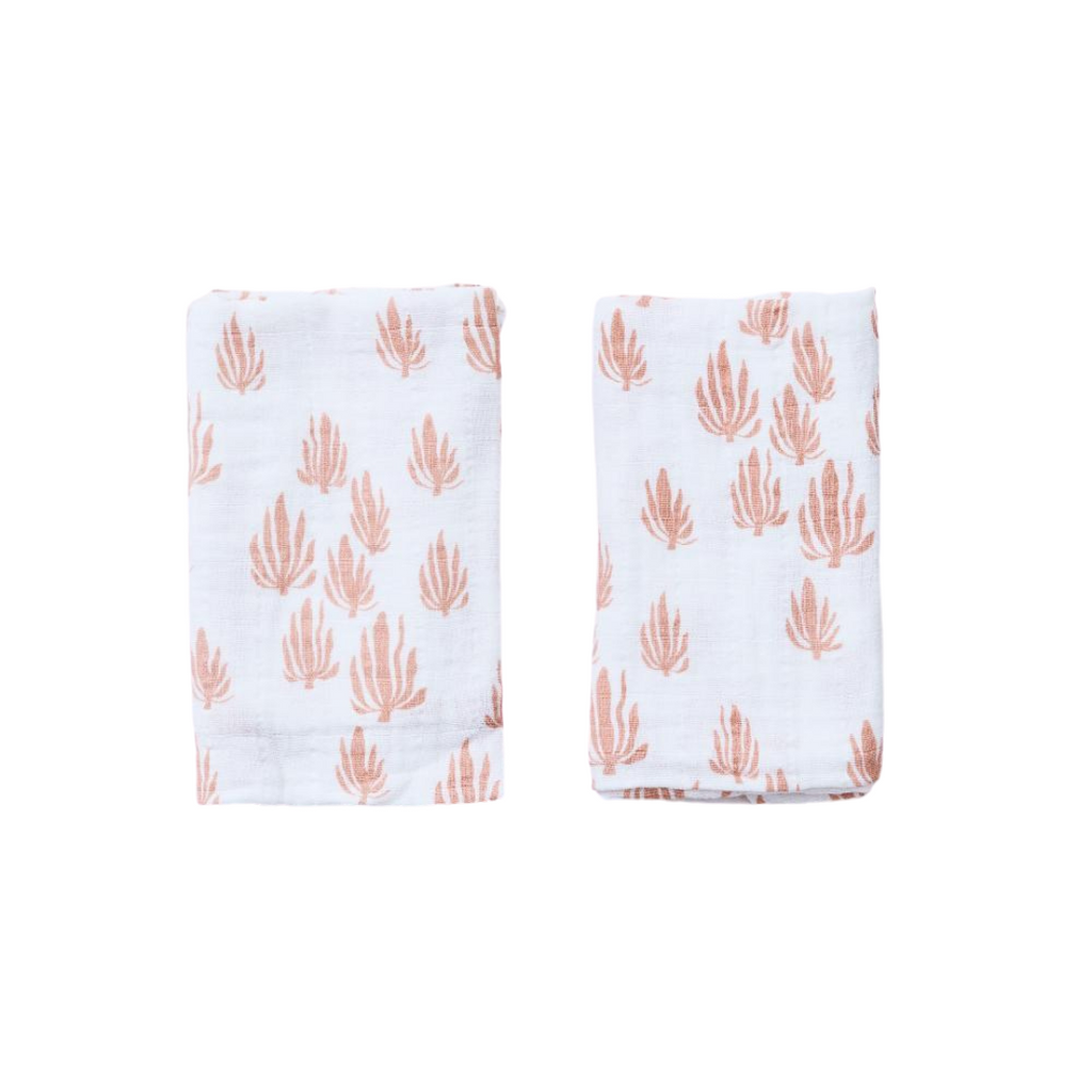 Lewis is Home Burp Cloth Set - Seaweed