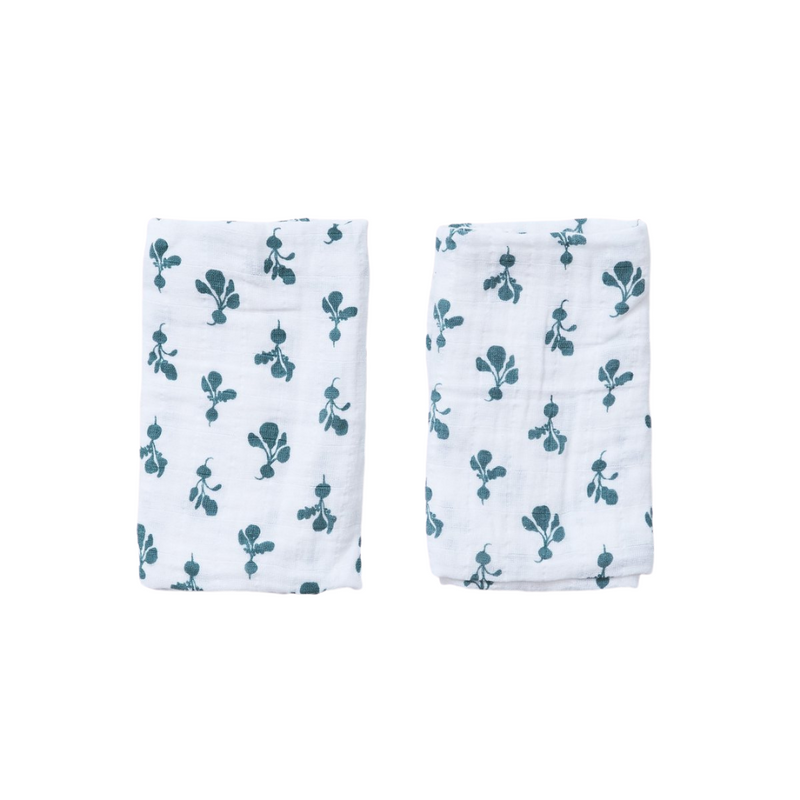 Lewis is Home Burp Cloth Set - Mini Radish