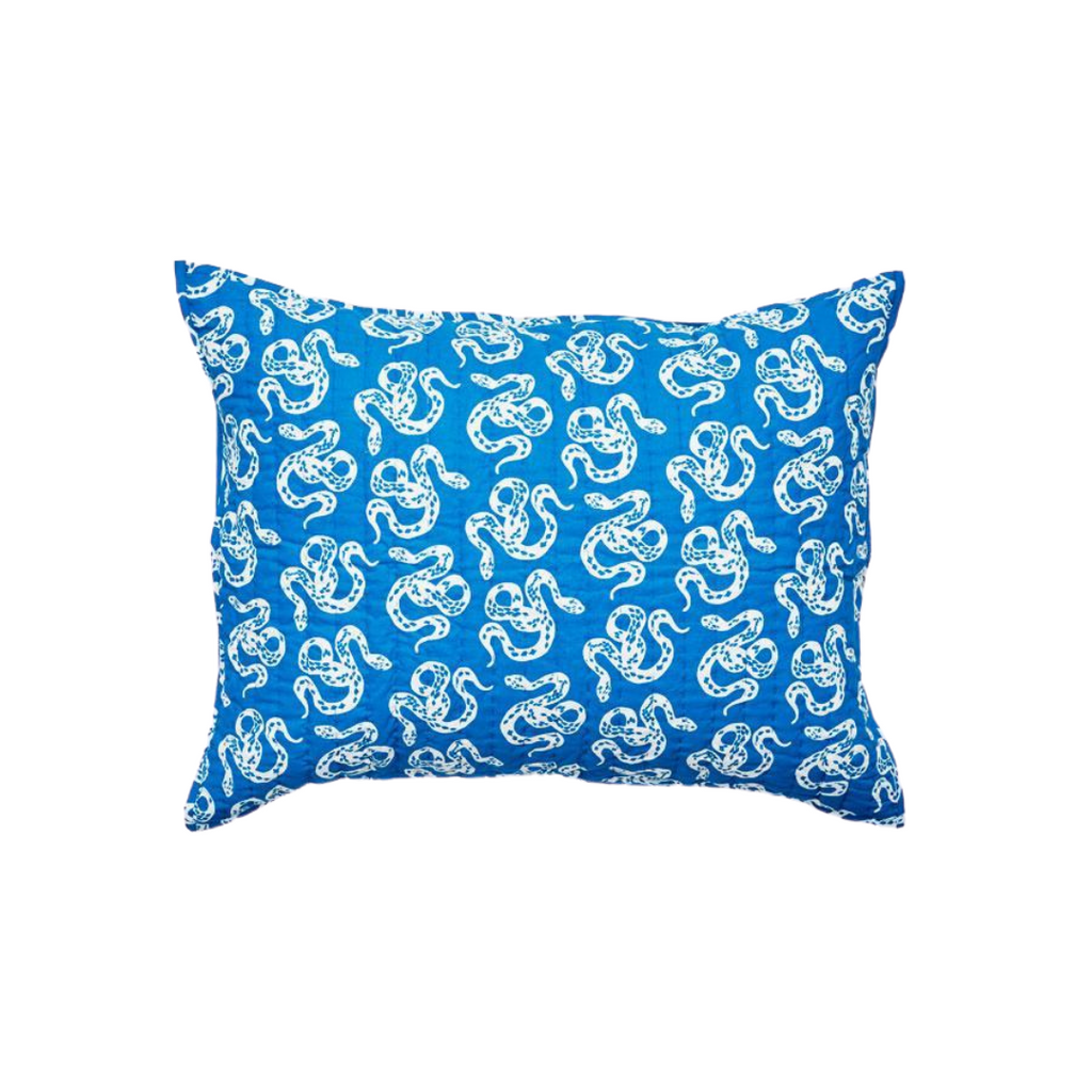 Lewis is Home Quilted Pillow Sham - Inverse Snake