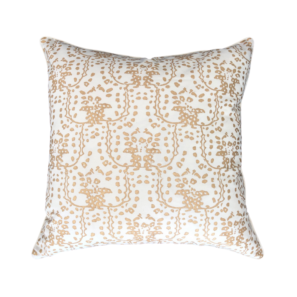 Kiska Textiles Kowloon Pillow Cover in Gold Leaf