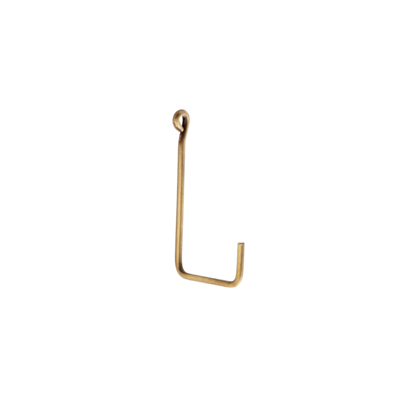 Small Brass Single Hook