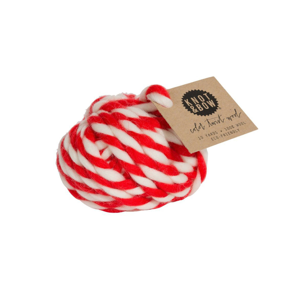 Red Colour Twist Wool Ball