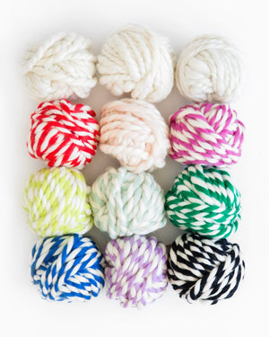 Chartreuse Colour Twist Wool Ball