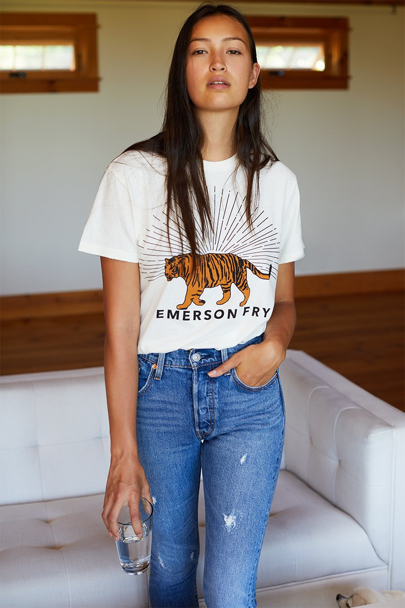 Emerson Fry Tiger T-Shirt - Ivory