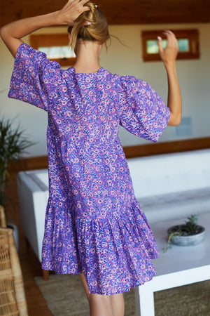 Emerson Fry Isla Dress in Violet Wildflower