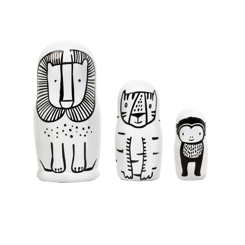 Wild Friends Nesting Dolls