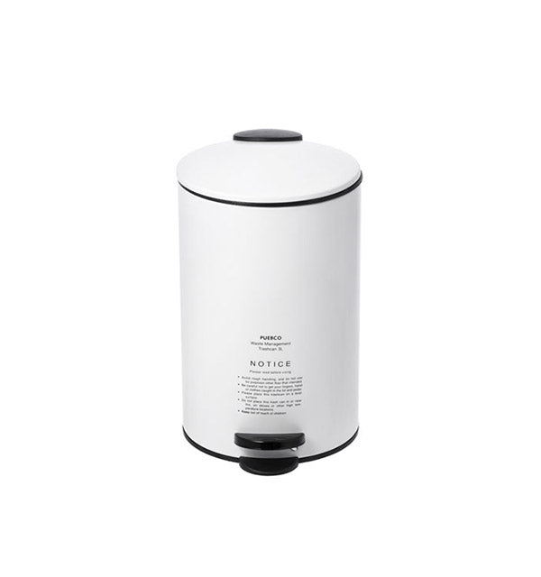 White Puebco Trash Can