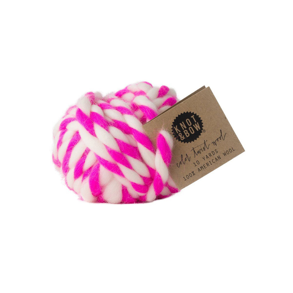 Hot Pink Colour Twist Wool Ball