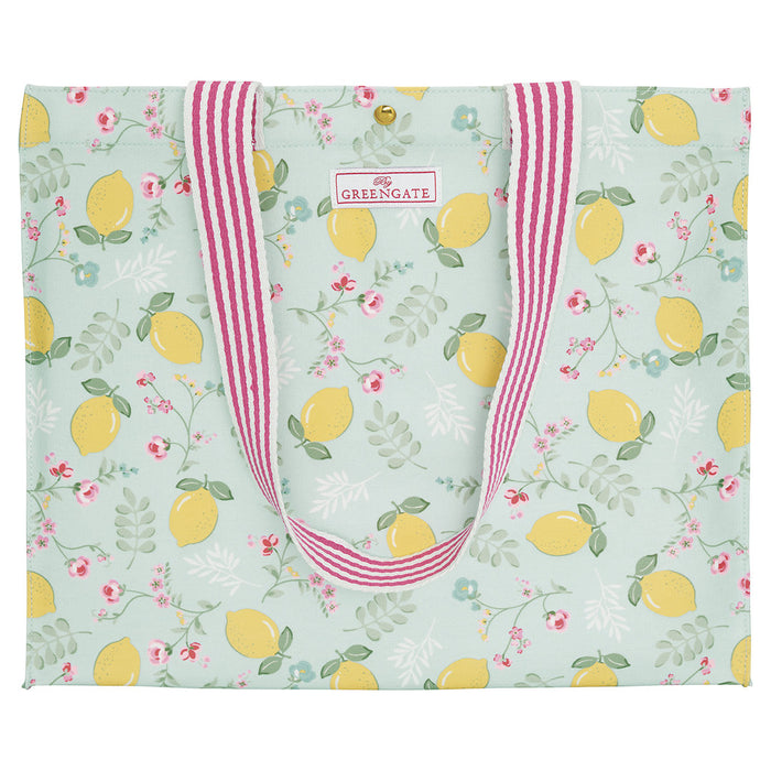 GreenGate Shopper Tasche Limona pale blue
