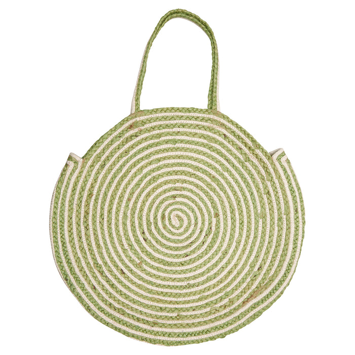 GreenGate Tasche Basket Bag Round Stripe Pale Green