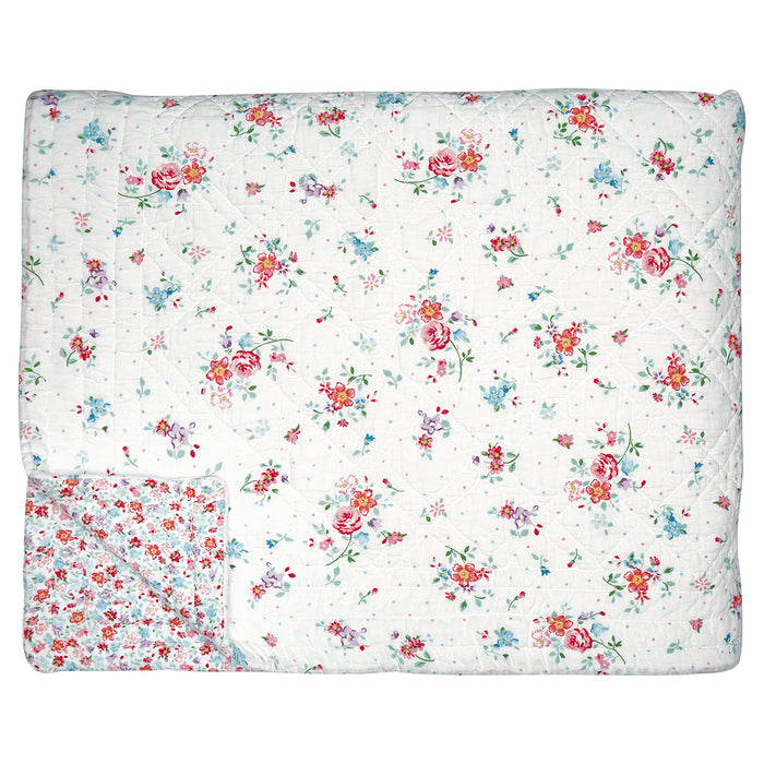 GreenGate gesteppte Tagesdecke Belle White 140x220