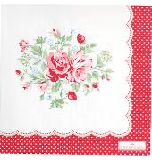 GreenGate Papier Servietten Mary White Large 20 Stk.