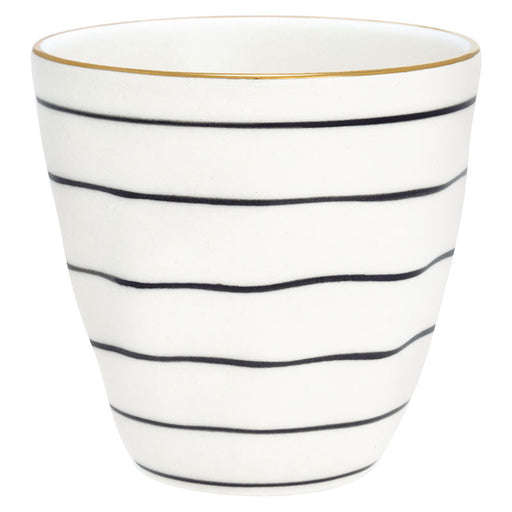 GreenGate Latte Cup Sally Black with Gold