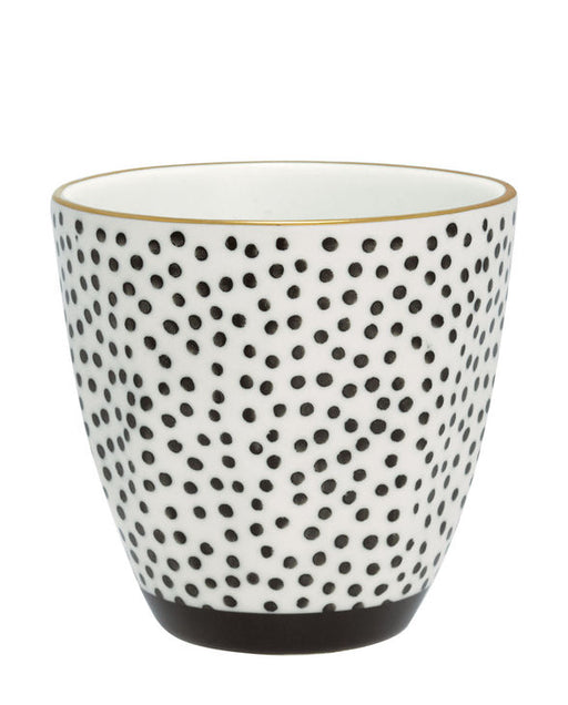 GreenGate Latte Cup Dot Black with Gold
