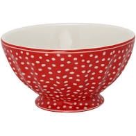 GreenGate French Bowl Dot Red xlarge Ø13,5