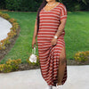Viladress Striped Dress Maxi Dress Women Casual Maxi Dress