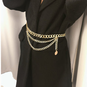 Viladress Women Waist Chain Women Belt Metal Belt Accessory