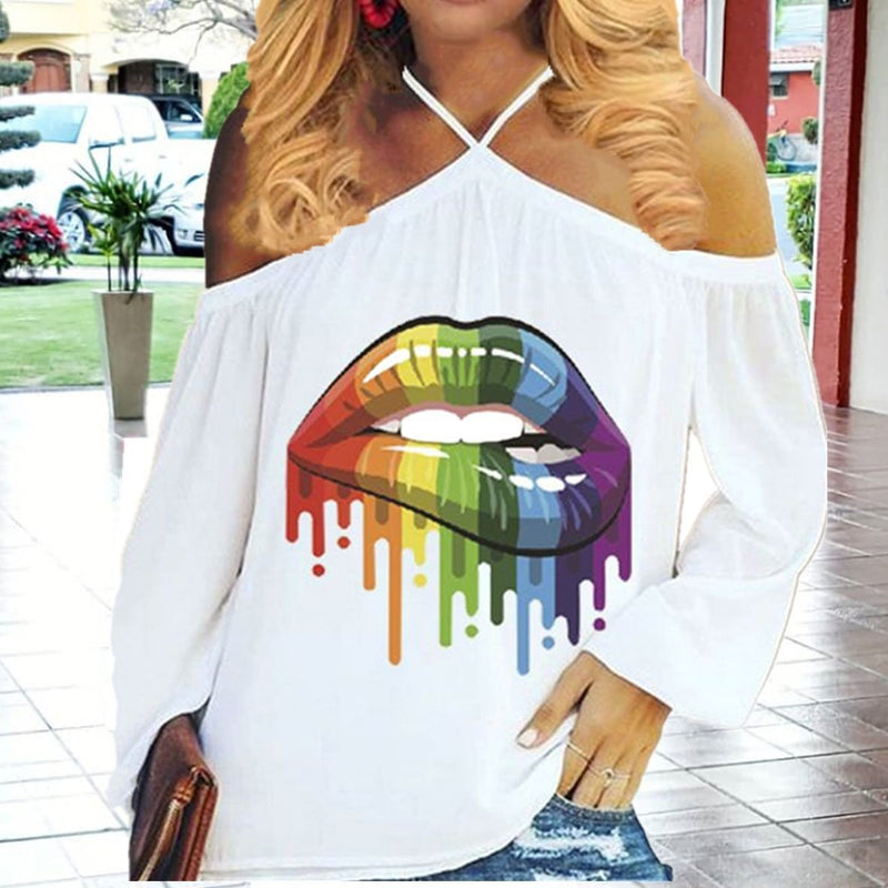 Halter Solid Women T-shirt