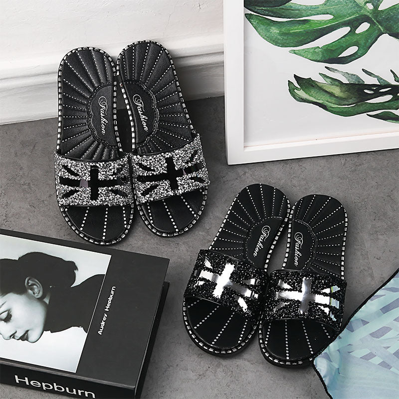 Viladress Women Slippers Women Sandals Black Slippers