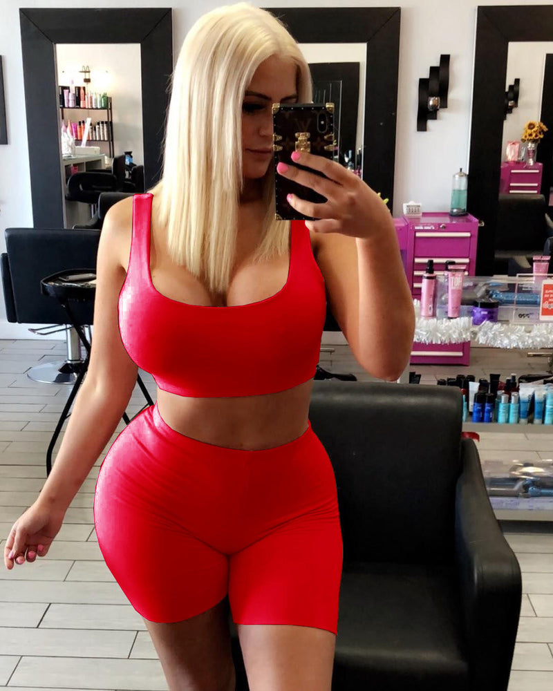 Viladress 2020 Sweatsuits Shorts Set Women Sweat Vest and Shorts Outifts