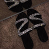 Viladress Artificial Diamonds Decorated Women Slipers