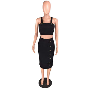 Viladress Women Crop Tops and Skirt Set