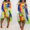 Viladress Multicolor Printing Women Dress