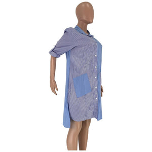 Viladress Patchwork Women Shirt Dress
