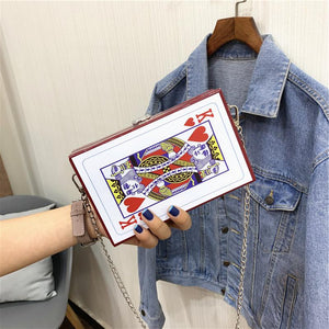Viladress  Playing Card Printing Women Bag Handbag Women Purse
