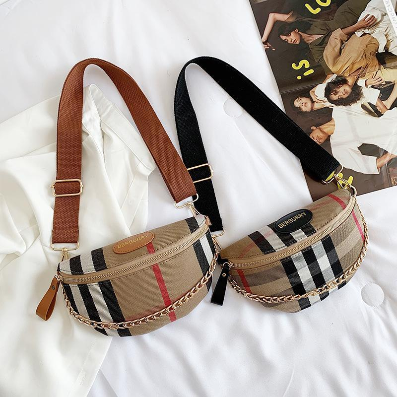 viladress Classic Striped Bag Women Bag Waist Bag Handbag
