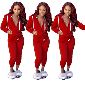 Viladress 2020 Autumn Sweatsuit Two pIeces Outfits Women Hoodie and String Pants