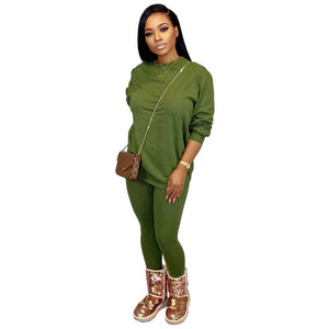 Viladress Women Round Neck Hoodie Long Sleeves Hoodie and Women Pants Two Pieces Women Autumn Outfit