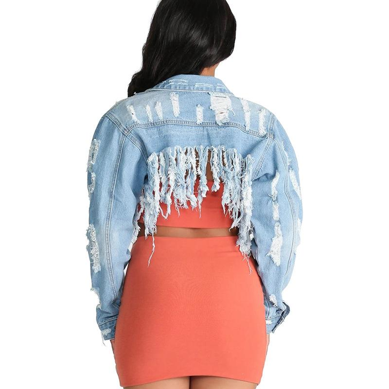 Viladress Plus size Jacket Plus size women Outerwear Plus size Denim Jacket