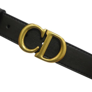 viladress Metal Letters Buckle Women Black Belt