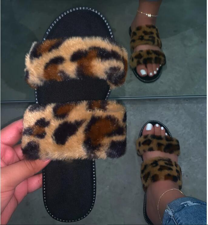 Viladress 2020 Furry Slippers Women Slippers