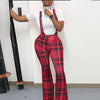 Viladress Woemn Pants checked Printing Women Pants Bandage Pants