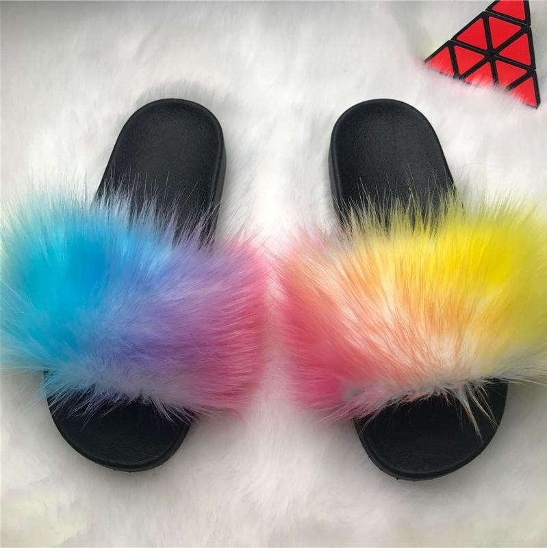 Viladress Furry Slippers Skid Resistance Women Flip-flops