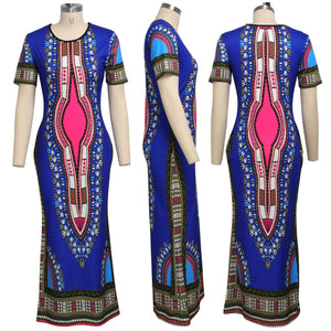 Viladress Vintage Printing women Dress Casual Dress