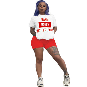 Viladress Best Selling Women t-shirt and Shorts Set