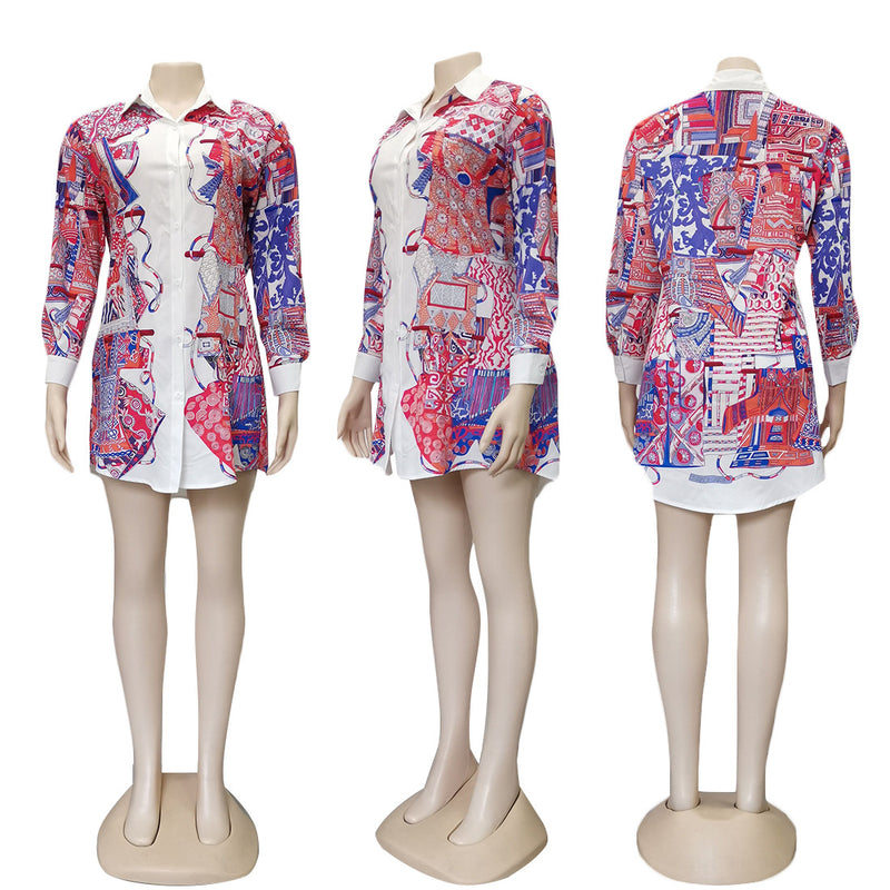 Viladress Multicolor Printing Women Shirt