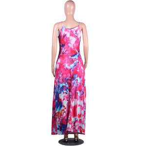 Viladress Printing Multicolors Woman Maxi Dress