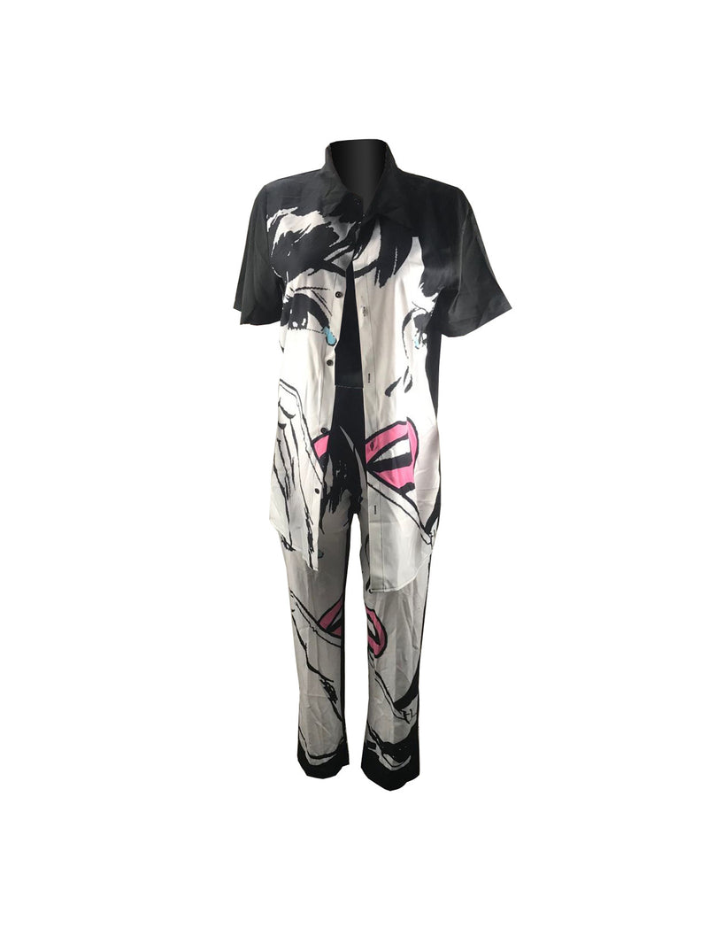 Viladress Fashion Printing Women Pants Set Women Outfits