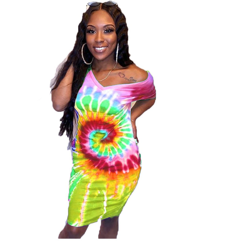 Viladress  Multicolors Printing Women Dress Mini Dress