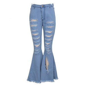 Viladress 2020 broken holes women Pants Women Jeans