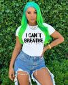 Viladress Letters Printing I can't Breath T-shirt Women T-shirt
