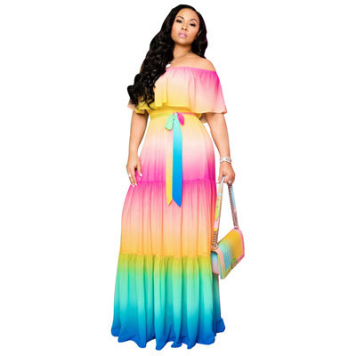 Viladress Women Dress Summer Dress Maxi Dress Off the Shoudler US Women Dress